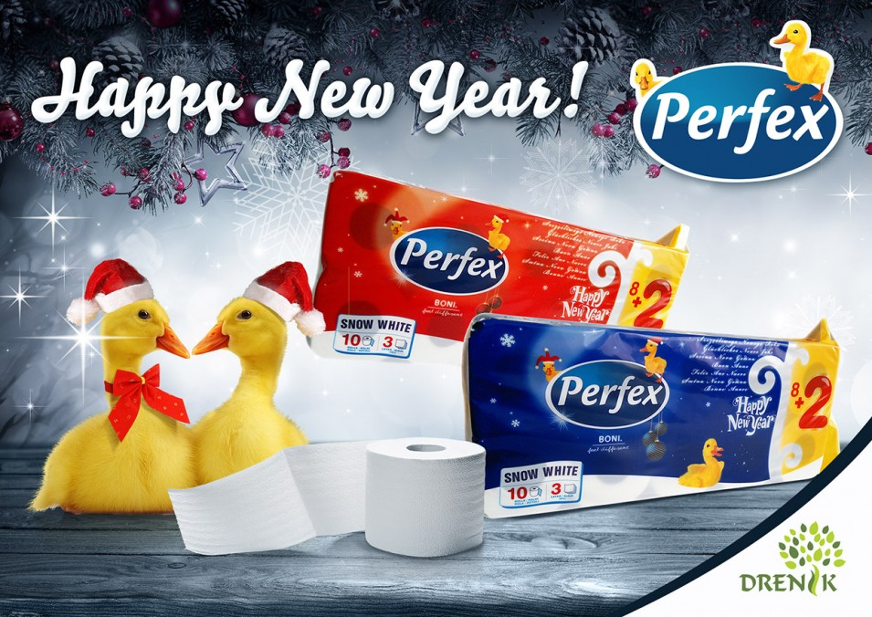 PERFEX Happy New Year | Perfex toalet papir